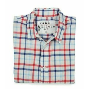 FRANK AND EILEEN Button Down Top Size S Plaid